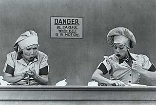 lucy and ethel candy conveyer belt